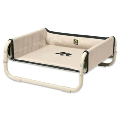 Coolaroo Maelson Large Soft Raised Dog Bed in Tan