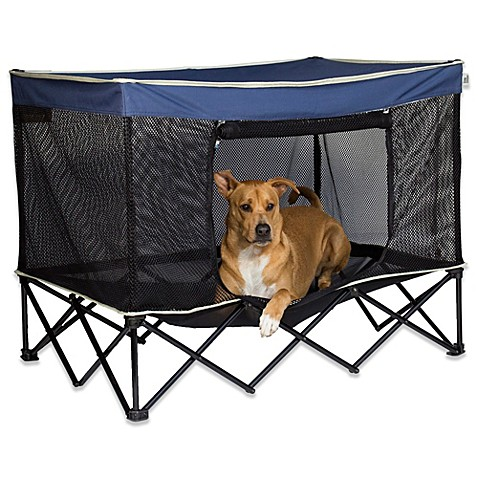 Quik Shade Large Instant Pet Kennel In Navy Bed Bath
