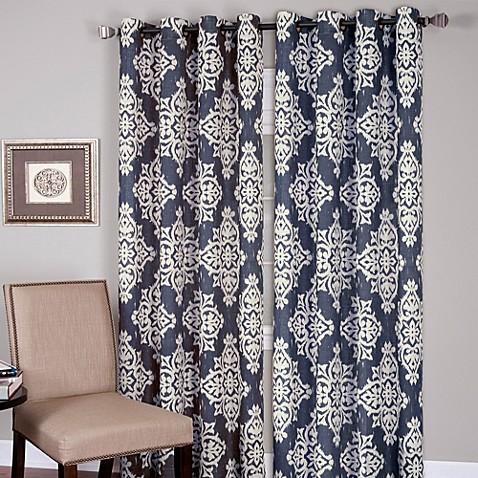 Buy Medina Grommet 84 Inch Window Curtain Panel In Grey From Bed Bath B