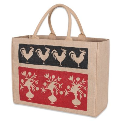 French Market Jute Tote Bag