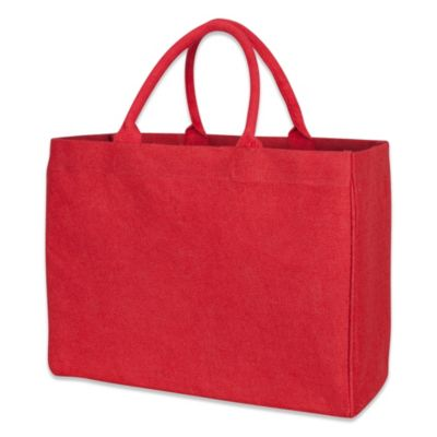 Jute Market Tote Bag in Red