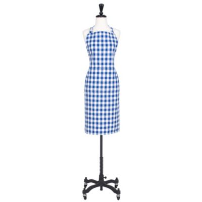 Buffalo Check Apron in Blue