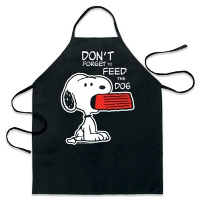 "ICup Peanuts ""Don't Forget to Feed the Dog"" Apron in Black"