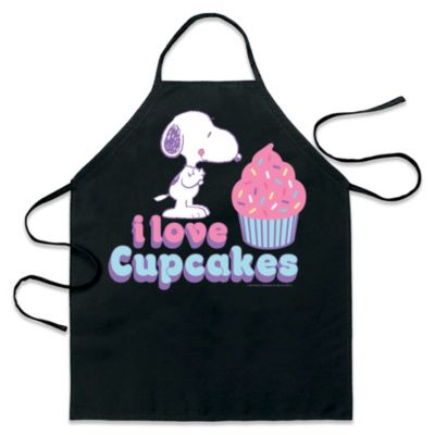 "ICup Peanuts Snoopy ""I Love Cupcakes"" Apron in Black"