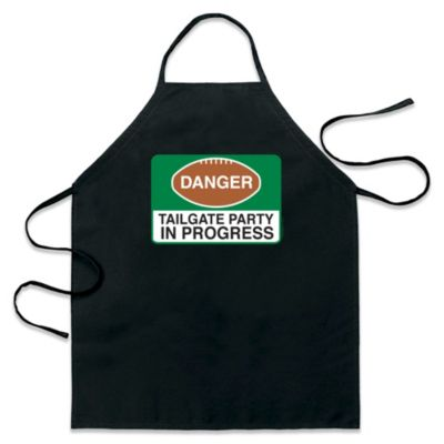 "ICup ""Danger Tailgate Party in Progress"" Apron in Black"