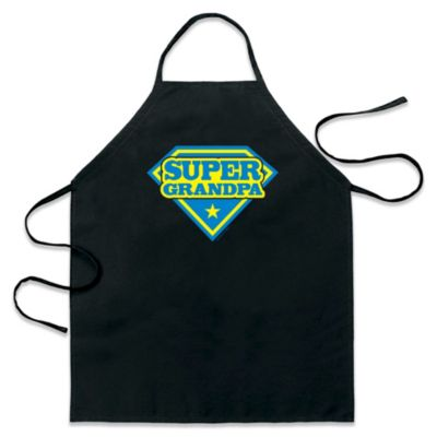 "ICup ""Super Grandpa"" Apron in Black"