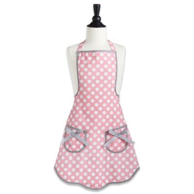 Jessie Steele Ava Children's Apron in Rosy Pink Polka Dot