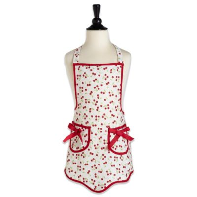 Jessie Steele Ava Child's Apron in Retro Cherries
