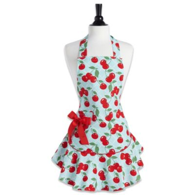 Jessie Steele Kitchen Cherry Josephine Bib Apron