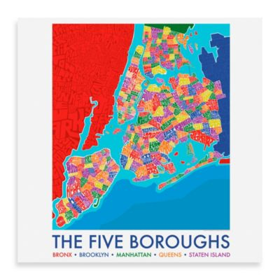 Five Boroughs Framed Wall Art