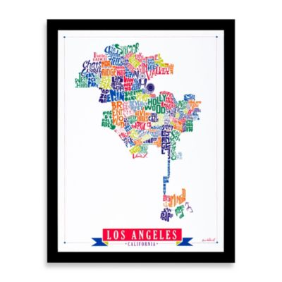 Los Angeles Map Framed Wall Art