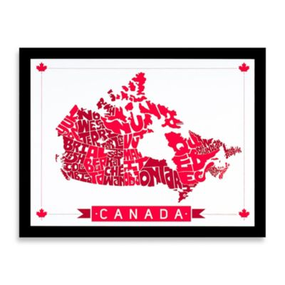 Canada Map Framed Wall Art