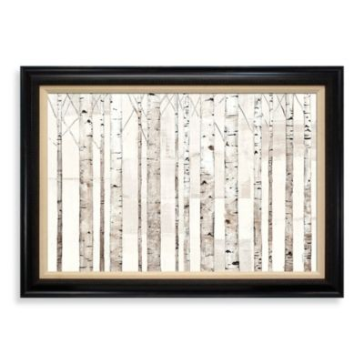 Birch Trees on White 31-Inch x 43-Inch Wall Art