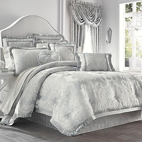 Buy j queen new yorktm antoinette king comforter set from for Silk sheets queen bed bath beyond