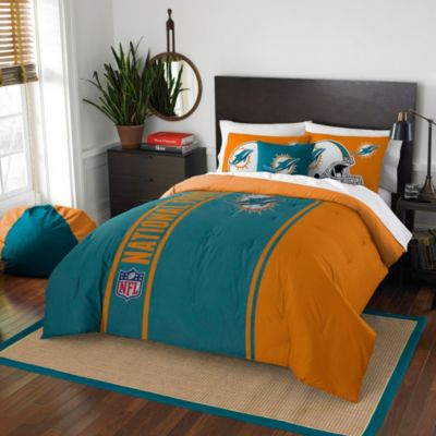 NFL Miami Dolphins Twin Embroidered Comforter Set