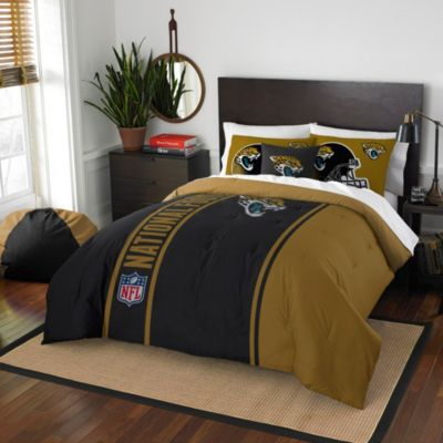 NFL Jacksonville Jaguars Full Embroidered Comforter Set