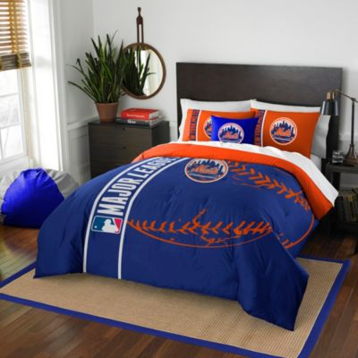 MLB New York Mets Full Embroidered Comforter Set