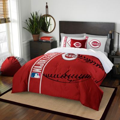 MLB Cincinnati Reds Full Embroidered Comforter Set