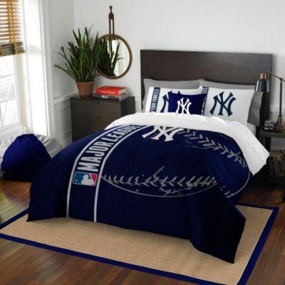 MLB New York Yankees Full Embroidered Comforter Set