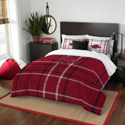 University of Arkansas Full Embroidered Comforter Set