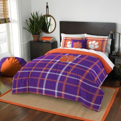 Clemson University Full Embroidered Comforter Set