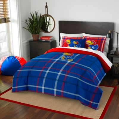 University of Kansas Twin Embroidered Comforter Set