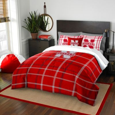 University of Nebraska Twin Embroidered Comforter Set