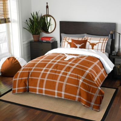 University of Texas Full Embroidered Comforter Set