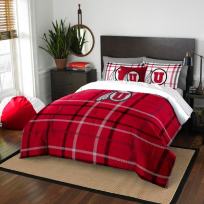 University of Utah Full Embroidered Comforter Set