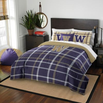 University of Washington Twin Embroidered Comforter Set