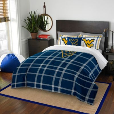 West Virginia University Full Embroidered Comforter Set
