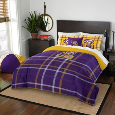 LSU Full Embroidered Comforter Set
