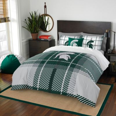 Michigan State University Twin Embroidered Comforter Set