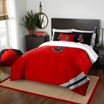 North Carolina State University Full Embroidered Comforter Set