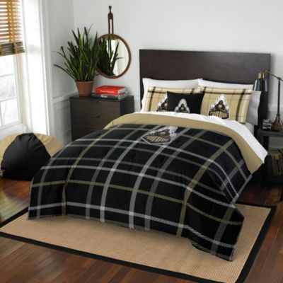 Purdue University Full Embroidered Comforter Set