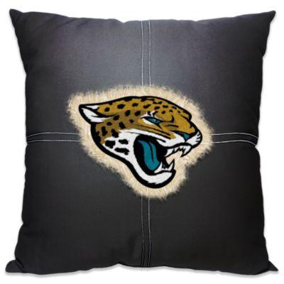 NFL Jacksonville Jaguars 18-Inch Letterman Toss Pillow