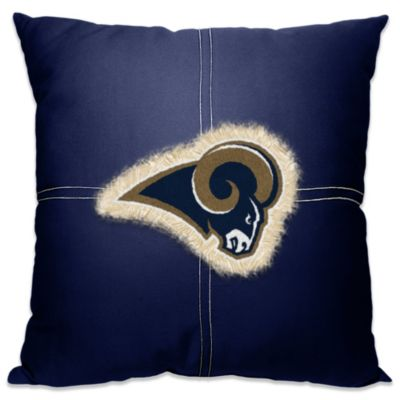 NFL St. Louis Rams 18-Inch Letterman Throw Pillow