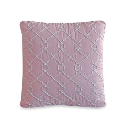 Pink Square Throw Pillow