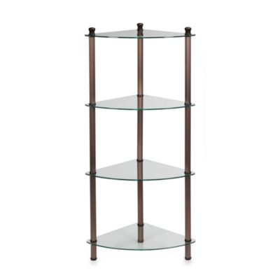 L'Etagere 4-Shelf Corner Tower in Oil Rubbed Bronze