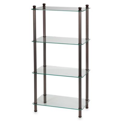 L'Etagere 4-Shelf Wide Tower in Oil Rubbed Bronze