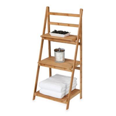Creative Bath™ Bamboo 3-Shelf Ladder Tower