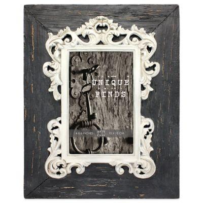 Arte de Casa Argento SC Distressed 4-Inch x 6-Inch Charlotte Frame