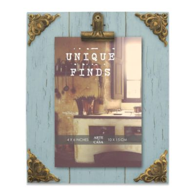 4 Blue Distressed Frame