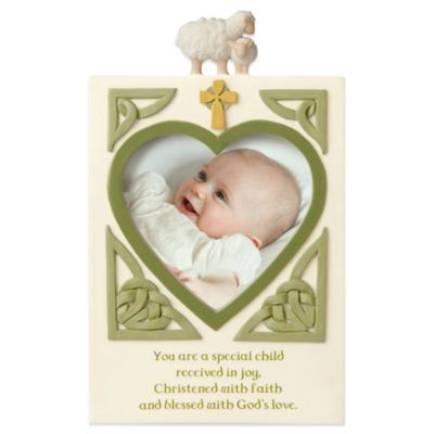 Grasslands Road® Christening 3.5-Inch x 5-Inch Photo Sentiment Frame
