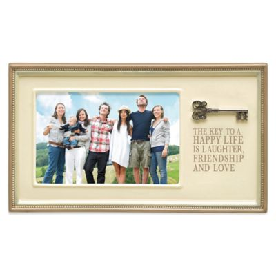 Grasslands Road® Happy Life 4-Inch x 6-Inch Picture Frame