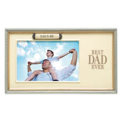 Grasslands Road® Dad & Me 4-Inch x 6-Inch Photo Sentiment Frame