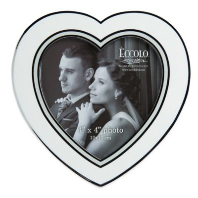 Eccolo™ Enamel Heart 4-Inch x 4-Inch Picture Frame