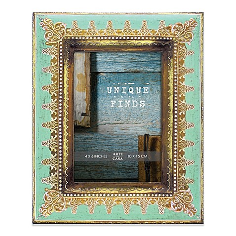 Arte de Casa Argento Murano 4-Inch x 6-Inch Photo Frame in Mint