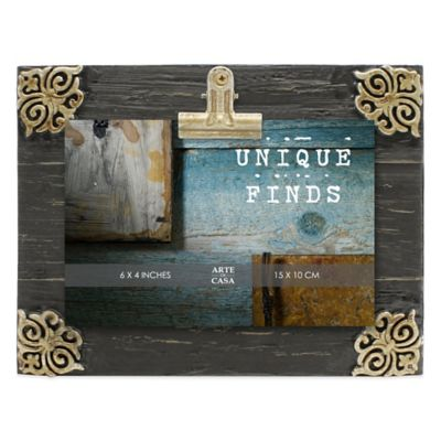 Metallic Wood Photo Frames