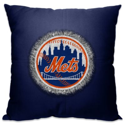 MLB New York Mets 18-Inch Letterman Toss Pillow